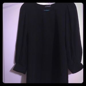 Tops - Black Tunic Top with sheer sleeves